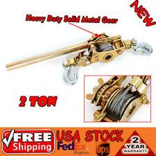 New Hoist Ratchet Hand Lever Puller Come Along Double Hooks Cable 2 Ton 4400lb