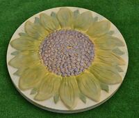 SUNFLOWER PLASTIC MOLD STEPPING STONE GARDEN PATH CONCRETE PLASTER #S18