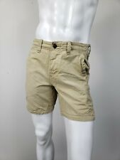 ABERCROMBIE & FITCH Classic Fit Shorts Khaki Lightly Distressed Cotton sz 30 NWT