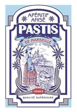 French Kitchen Dish/Tea Towel Pastis De Marseille 100% Cotton Made In France