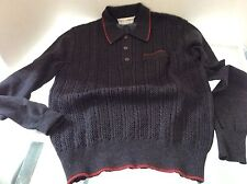 Dolce & Gabbana Polo Gray with red trim size 52 100% wool made in Italy