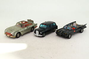 Corgi; Bargain Box; 3x For Restoration, Batmobile, James Bond; Damaged Unboxed