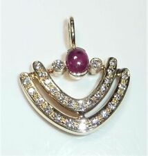 Halsketten und Anhänger mit echten Edelsteinen mit Rubin