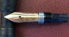 Pelikan M600/7xx old style SPARE PART: 18k/750 gold OM nib PF mark & feed EX RR!