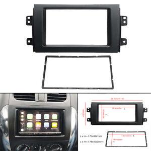 For 2007-13 Suzuki SX4 Double Din Stereo Radio Plate Frame Panel Trim Dash Kit
