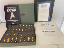 Franklin Mint Collectors Star Trek Chess Pieces. Vintage 1994 Gold plated