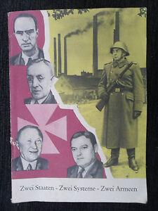 "5590 EAST GERMAN/DDR/GDR Cold War PROPAGANDA ""  TWO SYSTEMS TWO ARMIES "" cir1959"