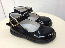 PRIMIGI Italy BLACK PATENT Ankle Mary Janes 22 Shoes 6-6.5 Classic
