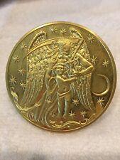 """1983 Franklin Mint Calendar 3"""" Medal Coin 24 KT Gold Electroplated on Bronze"""