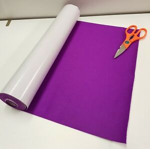 Two Metre's x 450mm wide roll of PURPLE STICKY BACK SELF ADHESIVE FELT / BAIZE