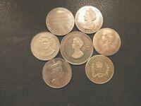 Silver Jubilee Souvenir Medallions 1977 Crown Size Adverts Shipping etc See Menu