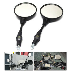 Universal Motorcycle Scooter Thread Folding Side Wings Rear View Mirrors 8/10mm