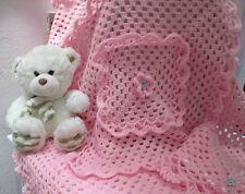 Copertina culla carrozzina realizzata a mano/Scialle per neonata in lana