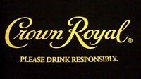 Crown Royal Black T-Shirt Mens Small Short Sleeve 100% Cotton New