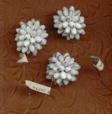 VINTAGE HASKELL hand Beaded Glass Flowers Picks Trim Charms Pendants Wired lot