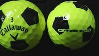 "10 CALLAWAY ""CHROME SOFT""- ""YELLOW""with ""BLACK TRUVIS"" - Golf Balls -""PEARL/A"""
