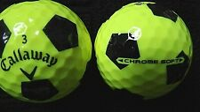 "20 CALLAWAY ""CHROME SOFT""- ""YELLOW""with ""BLACK TRUVIS"" -Golf Balls- ""MINT/PEARL"""