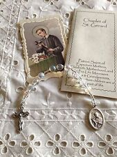 NEW ST. GERARD Hand-made CHAPLET, CZECH CRYSTAL AB BEADS, INFERTILITY  It works!