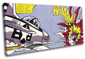 Roy Lichtenstein Whaam! Vintage SINGLE CANVAS WALL ART Picture Print
