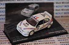 VOITURE RALLYE TOYOTA COROLLA WRC S. LOEB RALLYE TOUR DE CORSE 2000 1/43 EME IXO