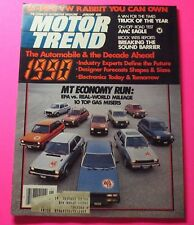 MOTOR TREND MAGAZINE JAN/1980...1990: THE AUTOMOBILE AND THE DECADE AHEAD