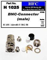 1 Stück BNC-Stecker für H 155 / Aircell 5 / RG 58 Koaxkabel 50 Ω (H1025)