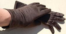 Gloves Women's Vintage GDR Ostalgia Fabric Gloves 50er 60er Dark Brown