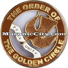 Z-96 The Order of the Golden Circle Auto Emblem Shrine Temple Mason Masonic Car