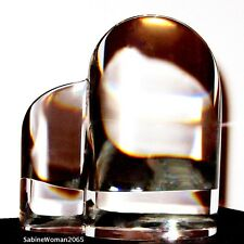 NEW in BOX STEUBEN art glass HEART crystal ornamental paperweight I LOVE U
