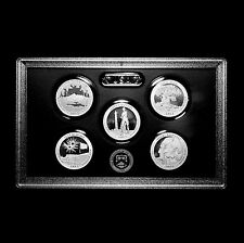 2013 S America the Beautiful National Park Silver Proof Set in US Mint Lens Case