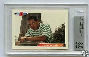 1992 BOWMAN RC MANNY RAMIREZ #532 BGS 8.5 NM-MT