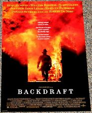 BACKDRAFT 1991 ORIG. 11x17 PROMO POSTER! Ron Howard's FIREFIGHTER ACTION CLASSIC