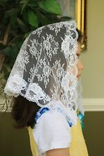 White child veils and mantilla Catholic church chapel lace latin mass CW