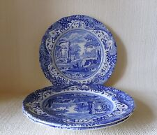THREE SPODE ITALIAN 225mm PLATES   GOOD CONDITION NEW STAMP