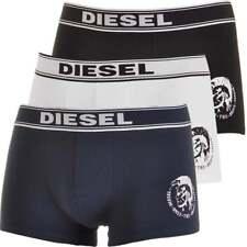 DIESEL Essential Cotton Stretch 3-Pack Boxer Trunk UBMX SHAUN, Black+White+Navy