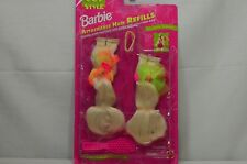(Lot of 3) CUT AND STYLE Barbie Doll Attachable Hair Refills BLONDE 1994