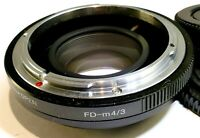 Focal Reducer Lens Booster Adapter CANON FD to M4/3 cameras Panasonic GH5 GH4