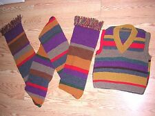 Doctor WHO!Hand Knited Acheson Hero Merino Wool Scarf Season 12 and Vest