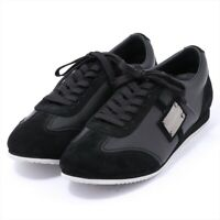 Dolce & Gabbana Leather Sneakers 6 Mens Black CS0645