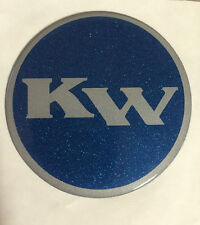 "Key West Boats 3"" Domed Round Decal Blue & Silver (Single)"