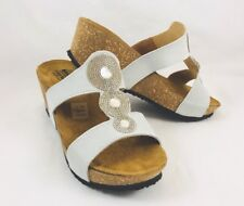 Spring Step Tada Wedge Sandals Off White Womens Size 7.5 - 8 / 38