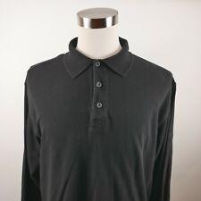 Hugo Boss Golf Mens Cotton Ls Solid Black Activewear Polo Shirt No Tag Xl?