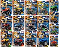 HOT WHEELS MONSTER JAM TRUCK RE-CRUSHABLE CAR *CHOOSE YOUR FAVOURITE* TRUCKS