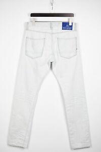 Scotch & Soda Ralston Homme W32/L34 Délavé Blanc Jeans Coupe Slim 36981_GS