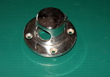 """Boat Rope Deck Pipe Chrome Plated Brass 3 1/8"""" flange x 1 1/2"""" ID x 1"""" opening"""