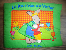 La journée de Victor Livre oreiller (Livre-tissu), de Marie-Hélène Grégoire