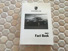 PORSCHE BOXSTER /S 911 996 COUPE CABRIOLET TURBO GT2 FACT BOOK BROCHURE 2002 USA