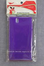 SONY XPERIA Z C6603   ALMO WIRELESS Purple SOFT & SNUG SILICONE SKIN CASE  NWT