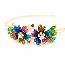New Coming Flowers design Crystal Rhinestone metal Headband hair band