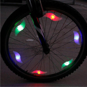 Bike Bicycle Cycling Spoke Wire Tyre Waterproof Multicolor LED Safe Bright Light